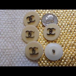 Set of 5 Vintage Chanel buttons